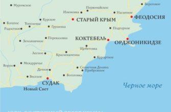 карта крыма - восток