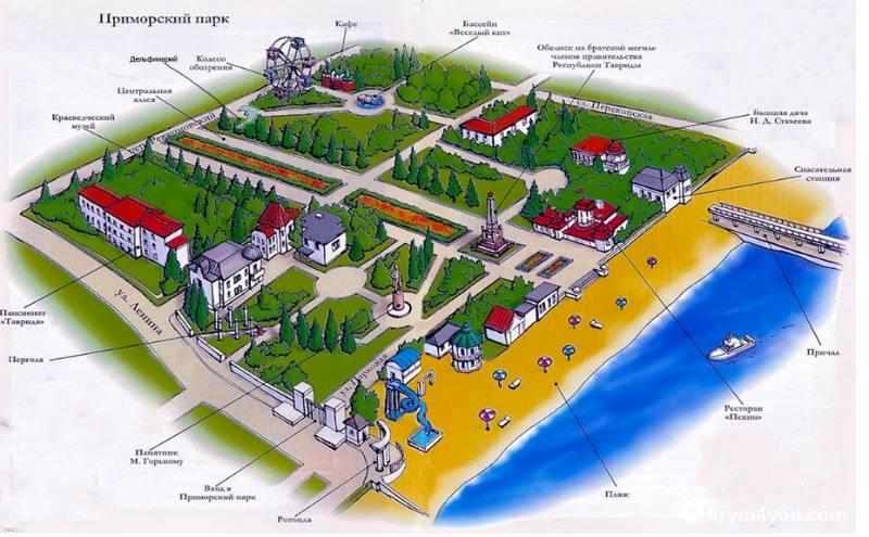 Местные жители и гости курорта Алушта любят гулять в парке