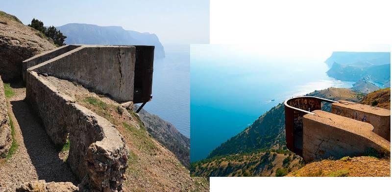 форт, который расположен на слоне горы Аскети